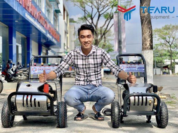 Máy rửa xe Okazune cung cấp độc quyền bởi công ty TEARU Việt Nam