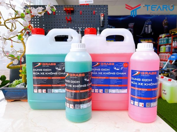 Các dòng dung dịch rửa và chăm sóc xe Grass được phân phối độc quyên bởi TEARU