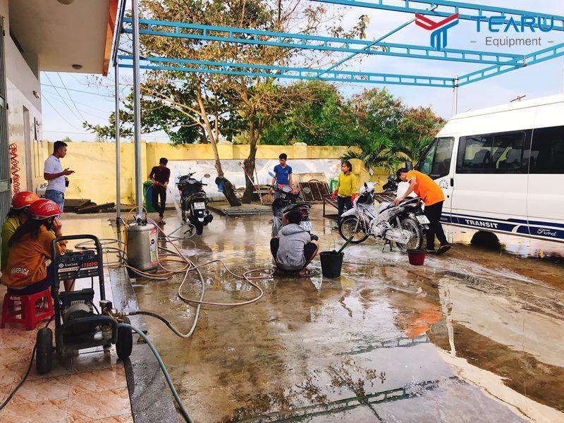 Kinh nghiệm mở tiệm rửa xe máy