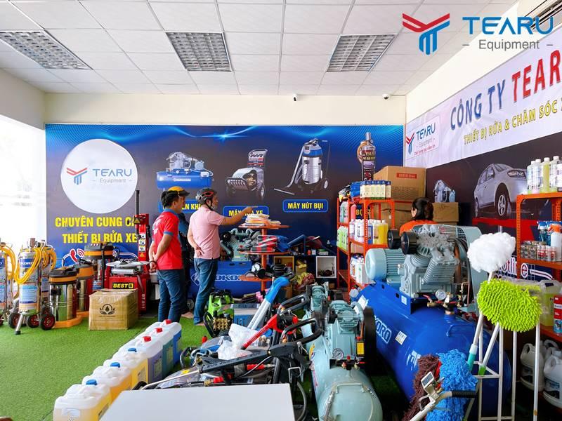 Trọn bộ thiết bị rửa xe luôn đầy đủ tại công ty TEARU Việt Nam