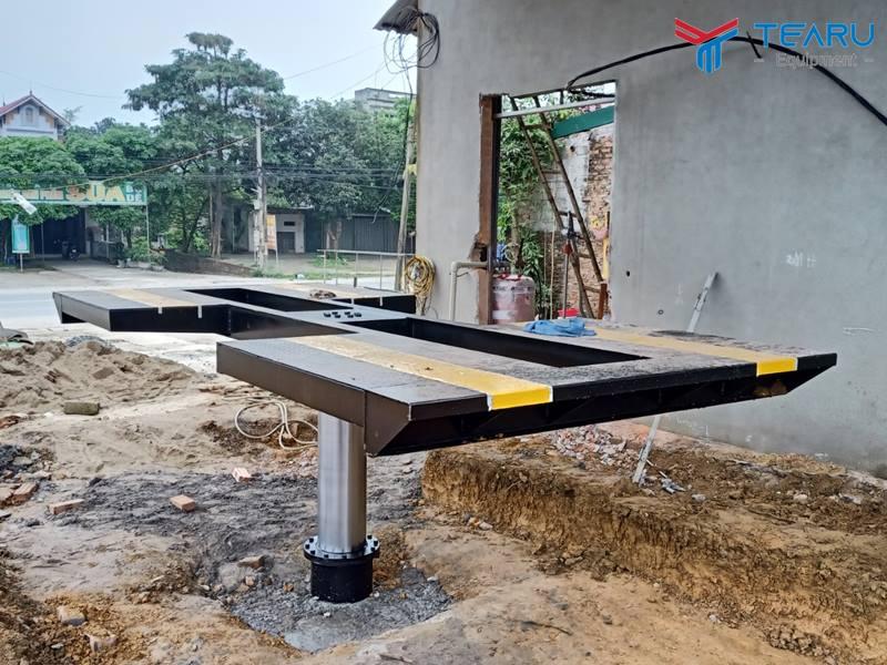 Lắp đặt cầu nâng rửa xe ô tô TAGORE cho anh Hải - Quốc Oai - Hà Nội