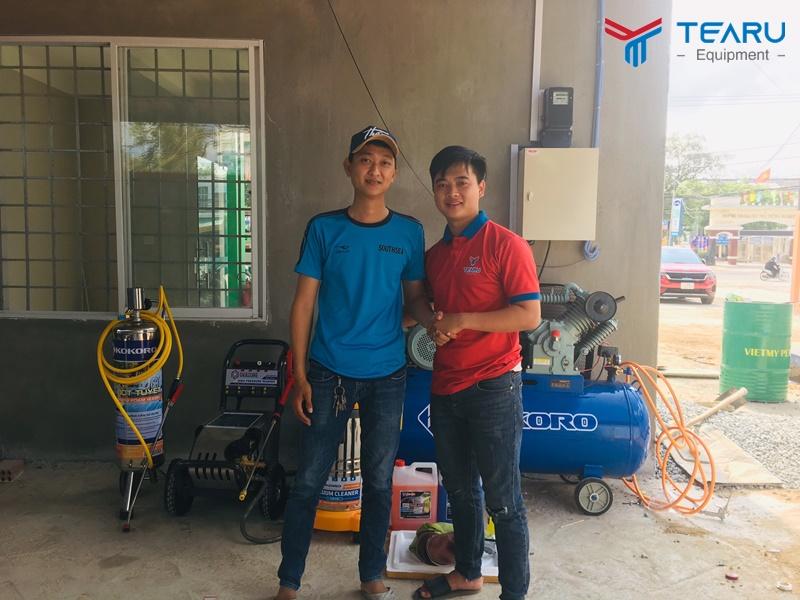 Lắp đặt Tiệm Rửa Xe Kết Hợp Cây Xăng cho anh Vương - Quảng Ngãi