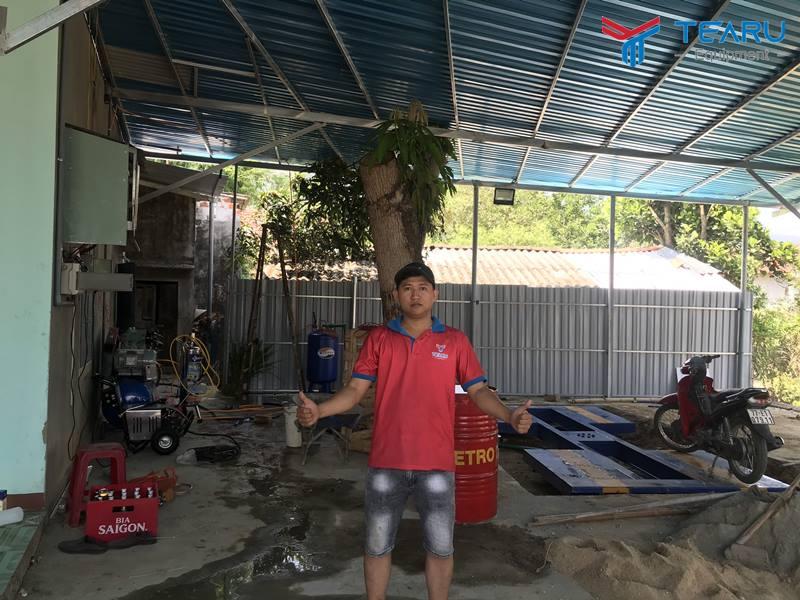 Lắp và bàn giao thiết bị rửa xe cho anh Hổ - Phù Cát - Bình Định