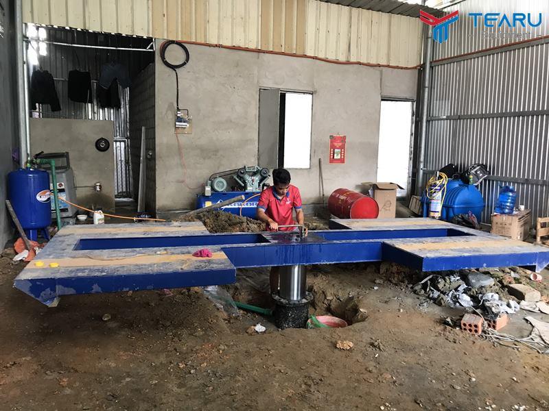 Lắp đặt tiệm rửa xe cho anh Tuấn ở TP. Huế - Thừa Thiên Huế