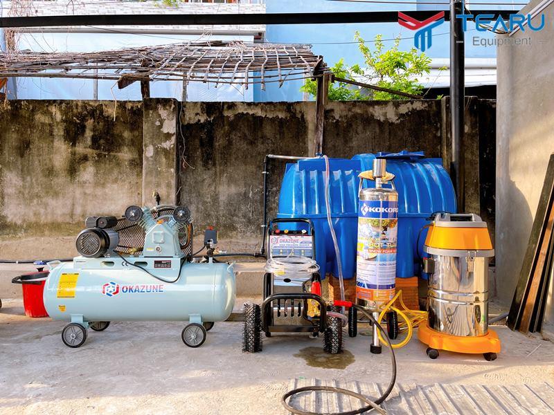 Trọn bộ thiết bị rửa xe ô tô cho người làm nghề