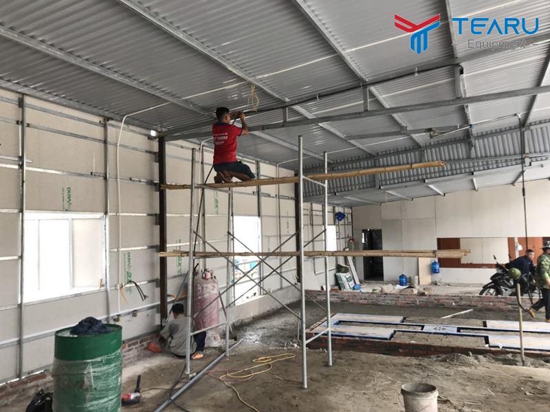 Lắp đặt thiết bị cho trung tâm chăm sóc xe 368 tại Bãi Cháy - Quảng Ninh