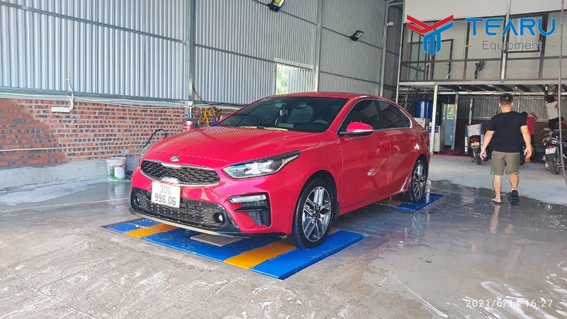 Lắp đặt thiết bị rửa xe cho anh Lượng ở Long Biên - Hà Nội