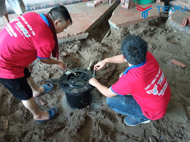 Hoàn thiện lắp đặt tiệm rửa xe cho anh Hữu ở Xuân Trường - Nam Định