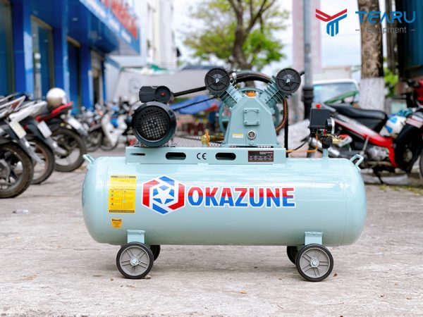 Máy nén khí dây đai Okazune 3HP 100L