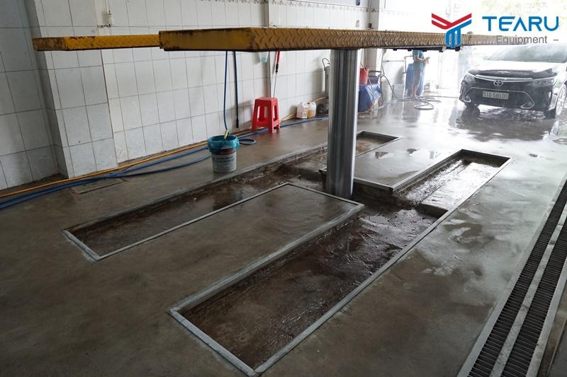 Kích thước cầu nâng 1 trụ chuyên rửa xe ô tô