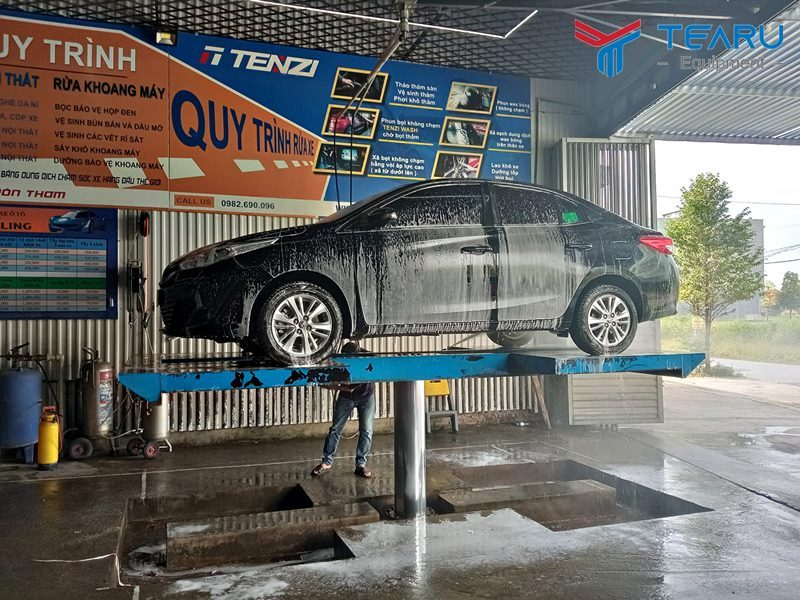 Cấu tạo cầu nâng 1 trụ rửa xe ô tô