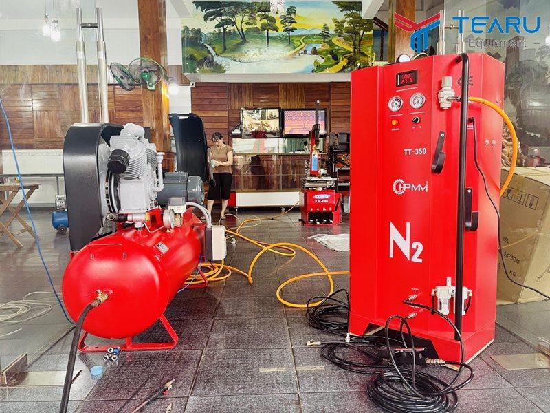 Máy bơm khí Nito, máy ra vào lốp chuyên nghiệp