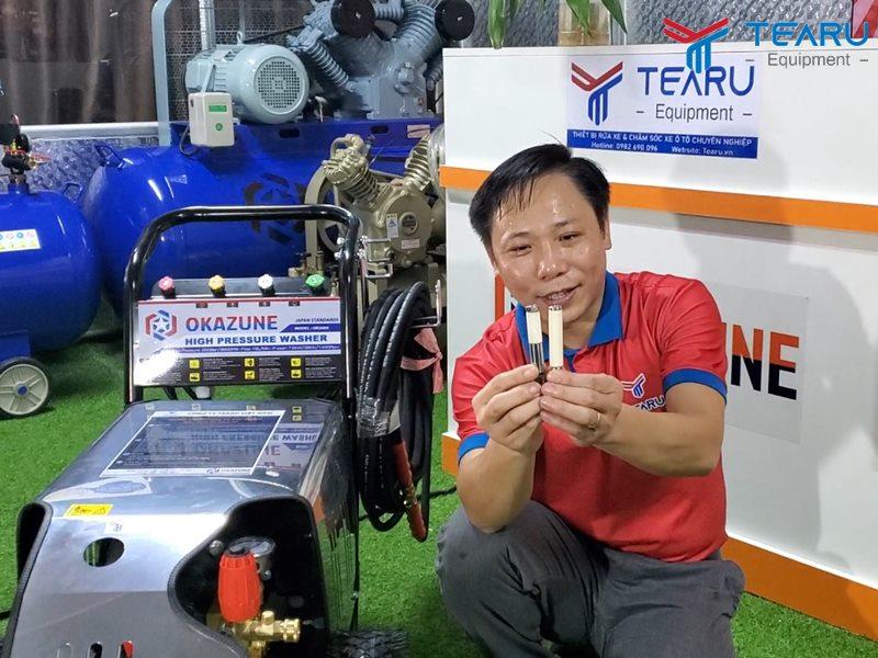 Máy rửa xe cao áp tốt nhất phải dùng piston sứ dài