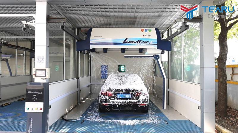 Dây chuyền rửa xe tự động khá hiện đại