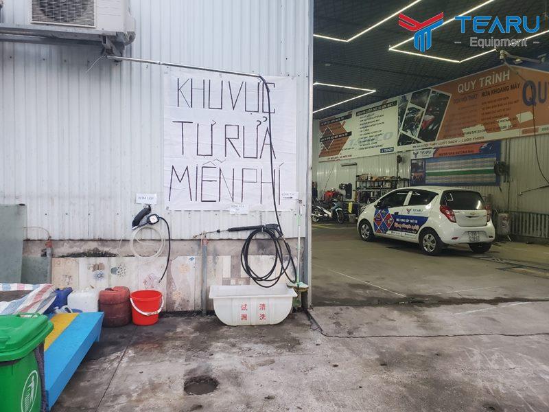 TEARU lắp đặt khu rửa xe bơm lốp tự phục vụ cho khách hàng trong dịch