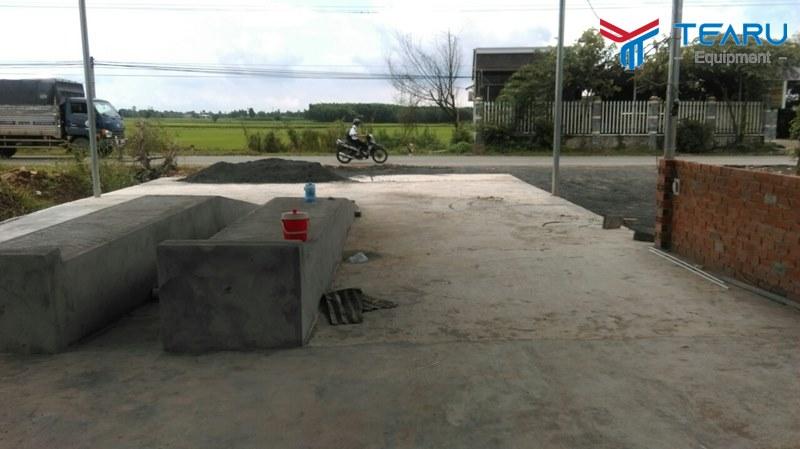 Xây cầu bê tông rửa xe cần đúng kích thước