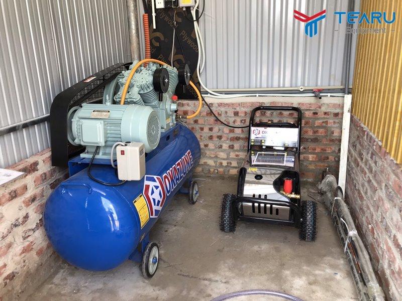 Máy rửa xe và máy nén khí Okazune chuyên nghiệp